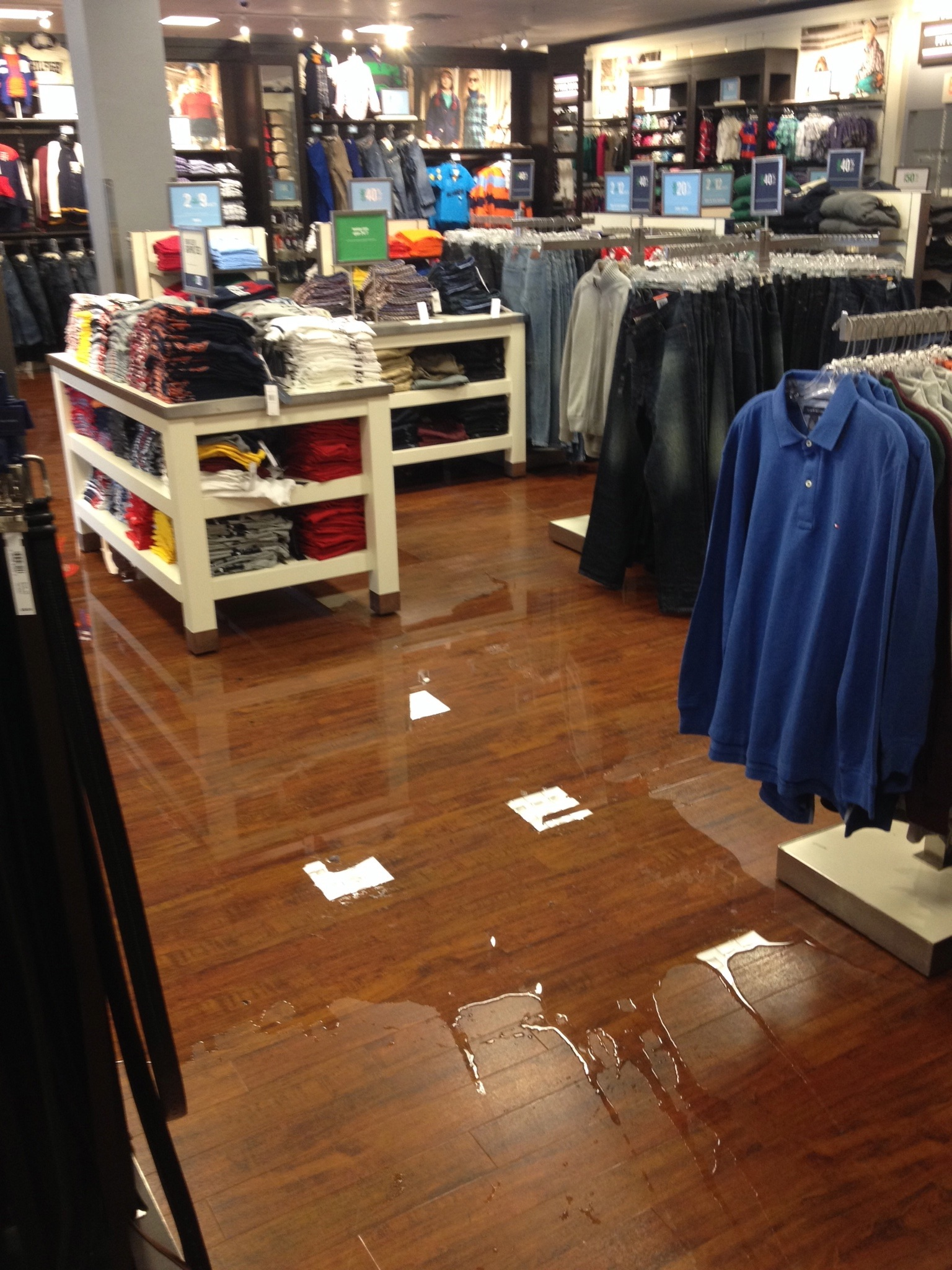 Clothing store flood